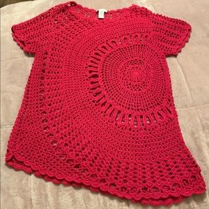 Chico's Crochet Top Sz 2